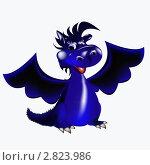 Купить «Синий дракон символ Нового 2012 года по восточному календарю», иллюстрация № 2823986 (c) Сергей Гавриличев / Фотобанк Лори