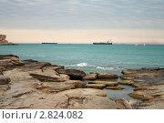 Купить «Скалистый берег Каспийского моря», фото № 2824082, снято 15 августа 2018 г. (c) Александр Малышев / Фотобанк Лори