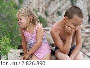Дети поссорились. Стоковое фото, фотограф Евгения Шийка / Фотобанк Лори