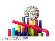 Купить «Цветные трубочки для коктейлей», фото № 2830050, снято 14 сентября 2011 г. (c) Вадим Иванов / Фотобанк Лори