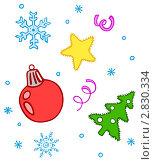 Купить «Новогодняя текстура», иллюстрация № 2830334 (c) Ирина Балина / Фотобанк Лори