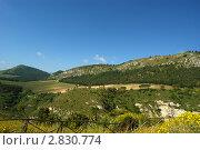 Купить «Горная долина, остров Сицилия, Италия», фото № 2830774, снято 5 мая 2011 г. (c) Владимир Журавлев / Фотобанк Лори