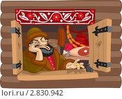 Купить «Торговец в лавке за прилавком», иллюстрация № 2830942 (c) Антон Гриднев / Фотобанк Лори