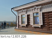 Купить «Деревянный дом со ставнями в 130 квартале в Иркутске», фото № 2831226, снято 24 сентября 2011 г. (c) Юлия Батурина / Фотобанк Лори