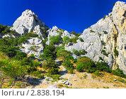Южная часть Крымского полуострова, горный пейзаж . Украина (2011 год). Стоковое фото, фотограф Vitas / Фотобанк Лори