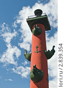 Купить «Ростральная колонна», фото № 2839354, снято 3 июня 2011 г. (c) Руслан Якубов / Фотобанк Лори