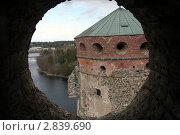 Вид на башню крепости Савонлинна в Финляндии (2010 год). Стоковое фото, фотограф Oksana Oleneva / Фотобанк Лори