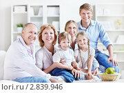 Купить «Семья из трех поколений», фото № 2839946, снято 4 июня 2011 г. (c) Raev Denis / Фотобанк Лори