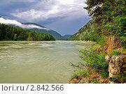 Купить «Горный Алтай. Величественная река Катунь», фото № 2842566, снято 12 июня 2011 г. (c) Александр Тараканов / Фотобанк Лори