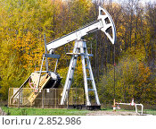 Купить «Добыча нефти. Нефтекачалка», фото № 2852986, снято 7 октября 2011 г. (c) Дудакова / Фотобанк Лори