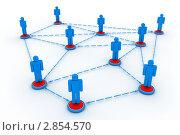 Социальная сеть. Стоковая иллюстрация, иллюстратор Илья Урядников / Фотобанк Лори