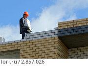Строительство многоэтажного кирпичного дома (2011 год). Редакционное фото, фотограф Клыкова Инна / Фотобанк Лори