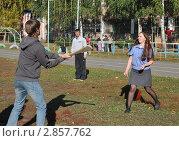 Купить «Игра в русскую лапту», эксклюзивное фото № 2857762, снято 14 сентября 2011 г. (c) Free Wind / Фотобанк Лори