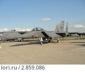 Американский двухместный истребитель-бомбардировщик F-15E «Страйк Игл» на МАКС 2011. Редакционное фото, фотограф Сизов Евгений / Фотобанк Лори