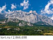 Купить «Крым. Вид на гору Ай-Петри», фото № 2866698, снято 2 сентября 2011 г. (c) Александр Лядов / Фотобанк Лори