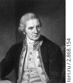 Купить «Английский мореплаватель Джеймс Кук на гравюре 1800 года», иллюстрация № 2868154 (c) Georgios Kollidas / Фотобанк Лори
