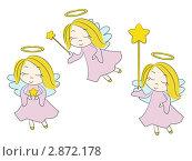 Купить «Рождественский ангелочек со звездой», иллюстрация № 2872178 (c) Евгения Малахова / Фотобанк Лори