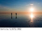 Закат на озере Эльтон. Редакционное фото, фотограф Маргарита Волгина / Фотобанк Лори
