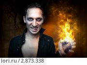 Купить «Портрет мужчины в образе оборотня. Хэллоуин», фото № 2873338, снято 24 августа 2011 г. (c) katalinks / Фотобанк Лори