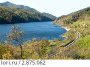 Купить «Водохранилище на реке Тый, остров Сахалин», фото № 2875062, снято 13 октября 2011 г. (c) RedTC / Фотобанк Лори