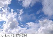 Купить «Голубое облачное небо», фото № 2876654, снято 3 сентября 2011 г. (c) Илюхина Наталья / Фотобанк Лори