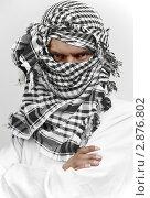 Купить «Суровый мусульманин араб в шемаге/куфии», фото № 2876802, снято 22 июля 2019 г. (c) Дмитрий Калиновский / Фотобанк Лори