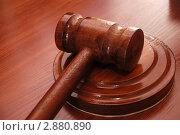 Купить «Аукционный молоток», фото № 2880890, снято 13 февраля 2007 г. (c) Величко Микола / Фотобанк Лори