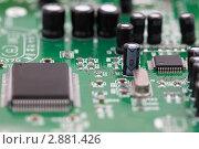 Купить «Электронная микросхема», фото № 2881426, снято 21 июля 2018 г. (c) Losevsky Pavel / Фотобанк Лори