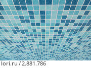 Купить «Керамическая плитка с синими квадратами», фото № 2881786, снято 27 июля 2010 г. (c) Losevsky Pavel / Фотобанк Лори