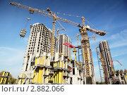 Купить «Строительство  высотных зданий», фото № 2882066, снято 27 сентября 2010 г. (c) Losevsky Pavel / Фотобанк Лори