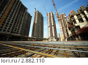 Купить «Строительство  жилого комплекса, Лосиный остров, Москва», фото № 2882110, снято 27 сентября 2010 г. (c) Losevsky Pavel / Фотобанк Лори