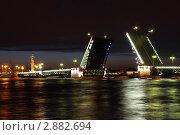 Купить «Разведенный Дворцовый мост. Санкт-Петербург», фото № 2882694, снято 23 мая 2010 г. (c) Losevsky Pavel / Фотобанк Лори