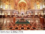Ковер и алтарь в храме Христа Спасителя в Москве. Стоковое фото, фотограф Losevsky Pavel / Фотобанк Лори