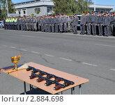 Купить «Гарнизонный развод полиции», эксклюзивное фото № 2884698, снято 15 сентября 2011 г. (c) Free Wind / Фотобанк Лори