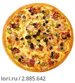 Мясная пицца. Стоковое фото, фотограф Сергей Матвеев / Фотобанк Лори
