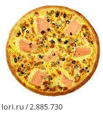 Пицца с лососем. Стоковое фото, фотограф Сергей Матвеев / Фотобанк Лори