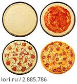 Пицца - пошаговое приготовление. Стоковое фото, фотограф Сергей Матвеев / Фотобанк Лори