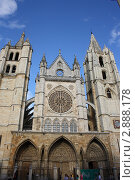 Кафедральный собор святой Марии .Город Лион Испания (2011 год). Редакционное фото, фотограф киров николай / Фотобанк Лори