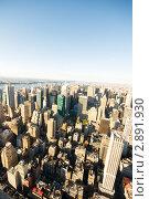 Панорама города Нью-Йорка, вид сверху (2010 год). Стоковое фото, фотограф Elnur / Фотобанк Лори