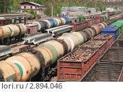 Купить «Железнодорожные вагоны», эксклюзивное фото № 2894046, снято 7 мая 2010 г. (c) Алёшина Оксана / Фотобанк Лори