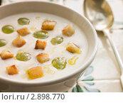 Купить «Ахо Бланко - белый холодный чесночный суп, род гаспаччо», фото № 2898770, снято 2 октября 2006 г. (c) Monkey Business Images / Фотобанк Лори