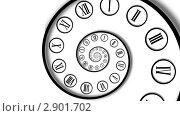 Бесконечная спираль времени, иллюстрация № 2901702 (c) Liseykina / Фотобанк Лори