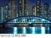 Купить «Ночной Токио», фото № 2903346, снято 15 февраля 2008 г. (c) Юрий Запорожченко / Фотобанк Лори