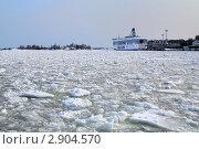 Купить «Паром Silja Line у терминала в Хельсинки зимой, Финляндия», фото № 2904570, снято 26 марта 2010 г. (c) Михаил Марковский / Фотобанк Лори