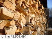 Поленница дров. Стоковое фото, фотограф Алексей Смелков / Фотобанк Лори
