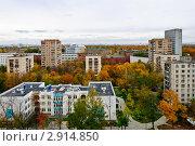 Вид из окна в микрорайоне Марфино на старую Москву (2011 год). Стоковое фото, фотограф Екатерина Егоркина / Фотобанк Лори