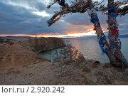 Байкал. Закат на острове Ольхон. Стоковое фото, фотограф Виктория Катьянова / Фотобанк Лори