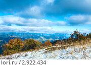Купить «Первый снег в Карпатских горах, Украина», фото № 2922434, снято 16 октября 2011 г. (c) Юрий Брыкайло / Фотобанк Лори