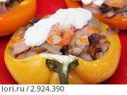Купить «Фаршированный болгарский перец», фото № 2924390, снято 24 января 2018 г. (c) Елена Пупирина / Фотобанк Лори