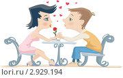 Купить «Влюбленные девушка и парень», иллюстрация № 2929194 (c) Антон Гриднев / Фотобанк Лори
